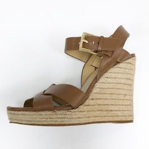 Michael KORS | Brown leather wedge heels 8